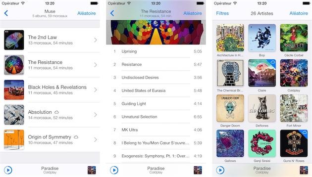 Application iphone pour ecouter de la musique sans wifi