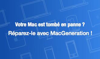 Votre Mac est tombé en panne ? Réparez-le avec MacGeneration !